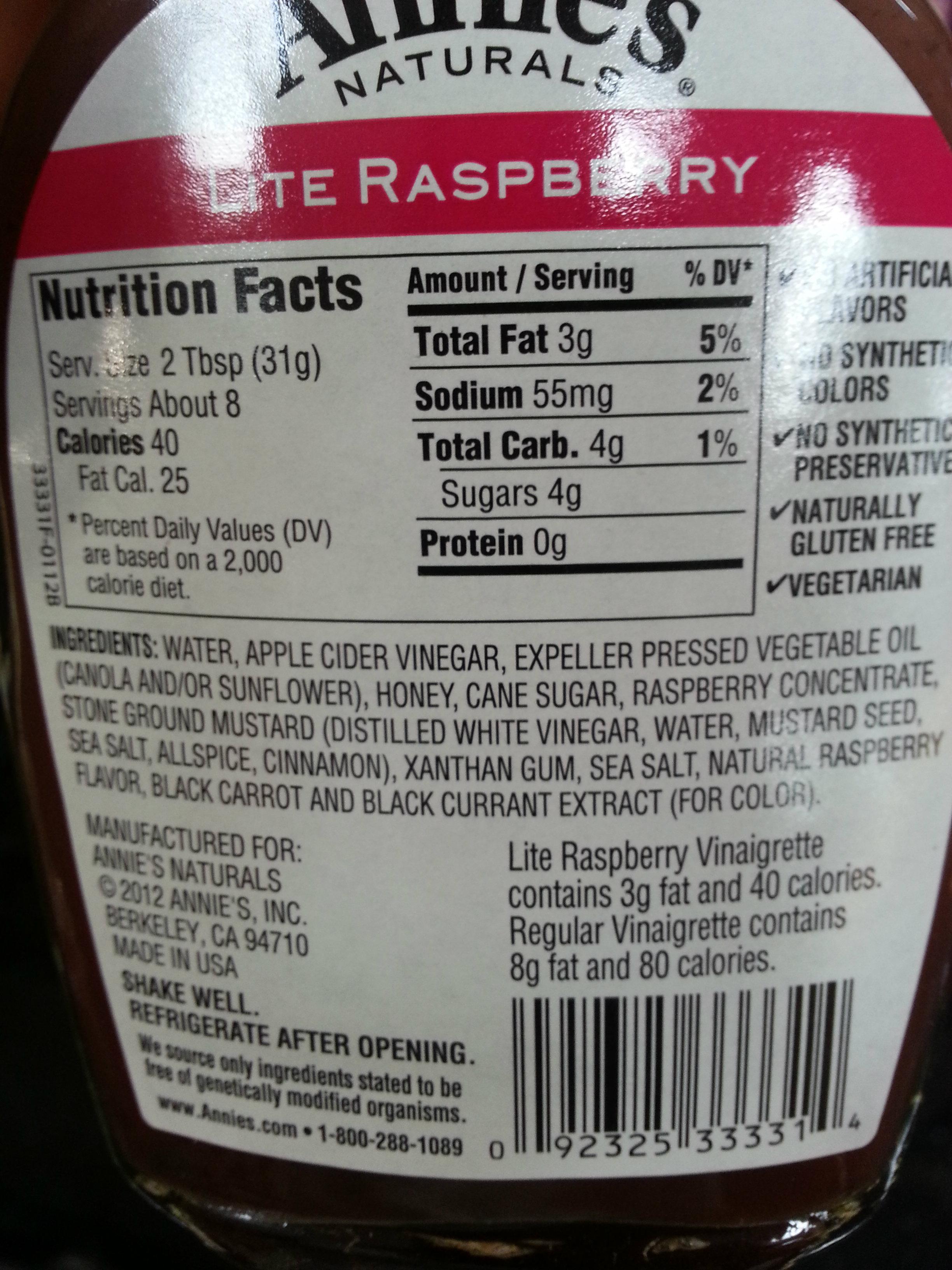 Raspberry Vinaigrette Store Bought