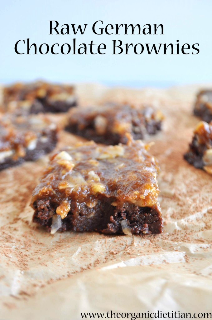 Raw German Chocolate Brownies