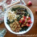 strawberry kale salad with avocado balsamic 3