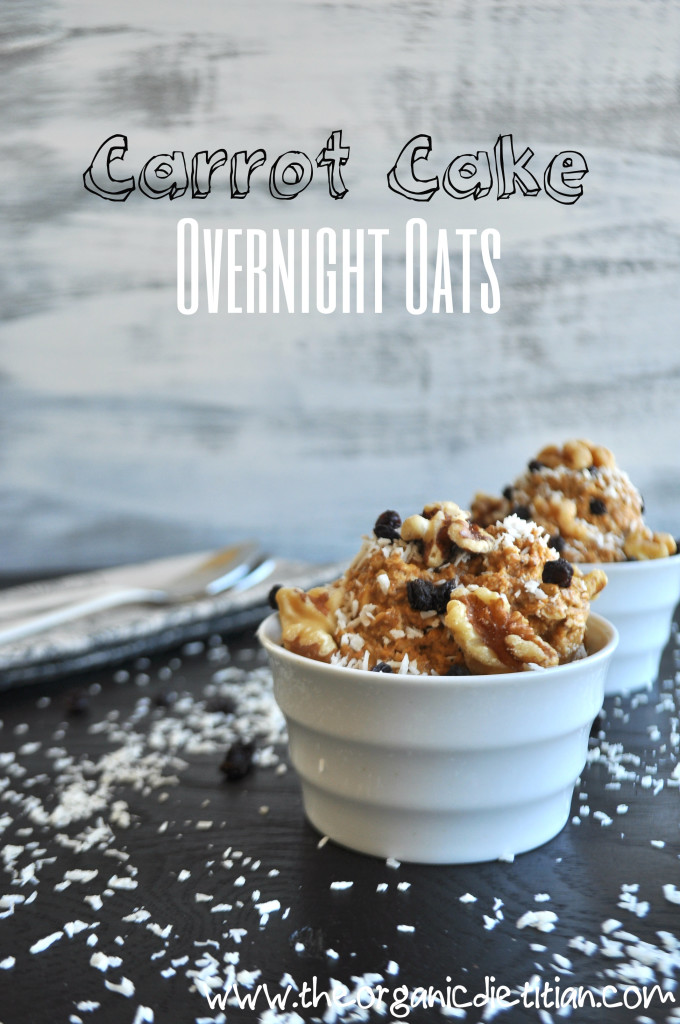 Carrot Cake Overnight Oats Title