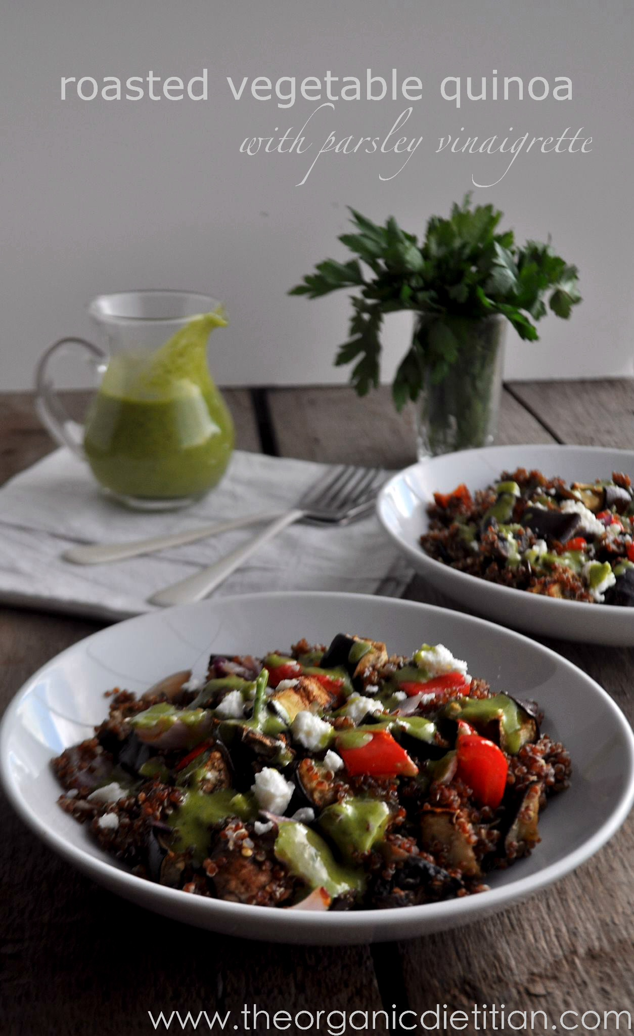 Roasted Vegetable Quinoa with Parsley Vinaigrette - The ...