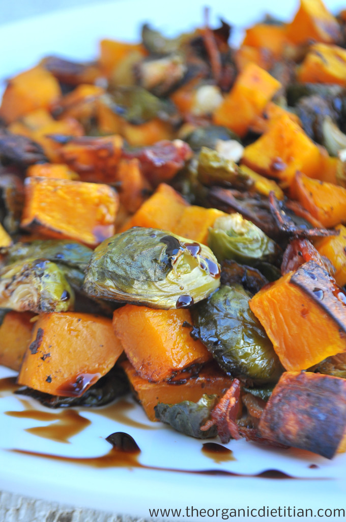 Brussels Sprouts and Butternut Squash with Balsamic Glaze (bacon ...