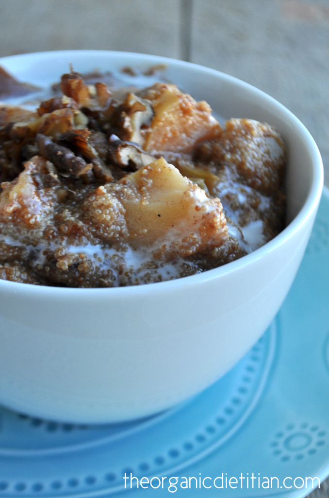 Crock Pot Apple Pie Amaranth Porridge 4