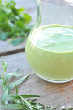 Green Goddess Tahini Dressing (Vegan, Nut Free, Paleo)