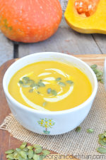 Winter Squash Soup with Curry Cream 2