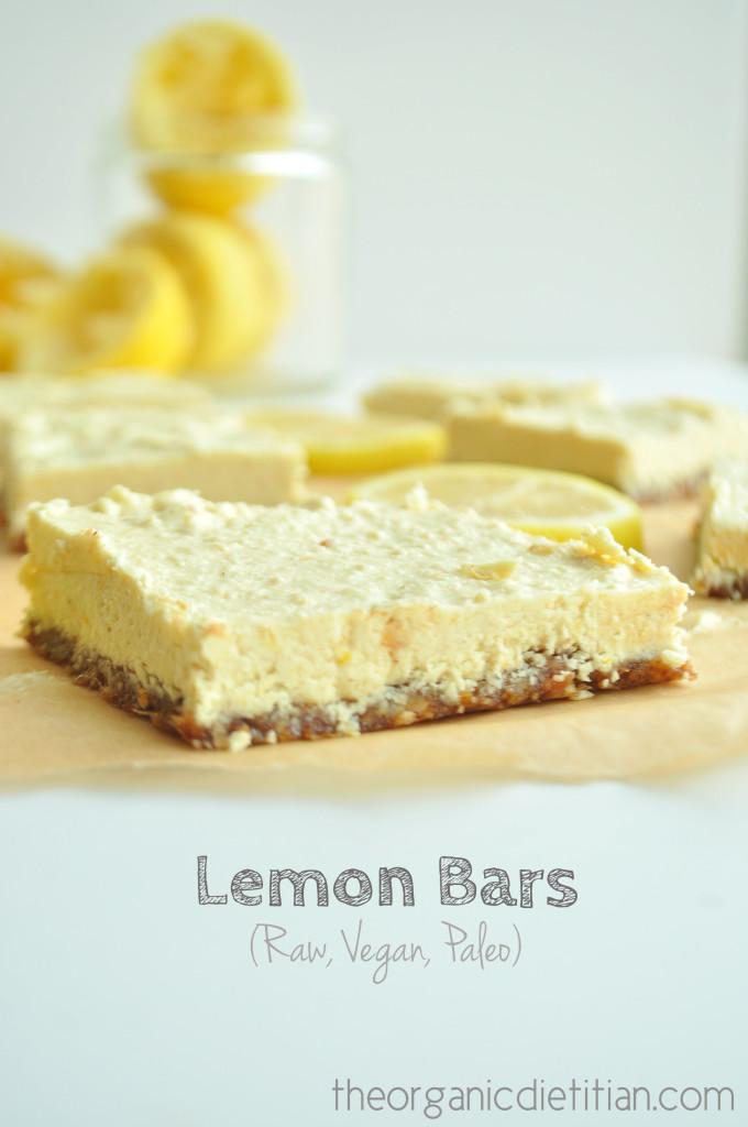 Lemon Bars (Raw, Vegan, Paleo) 1