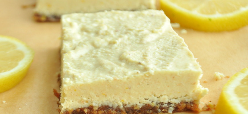 Lemon Bars (Raw, Vegan, Paleo)