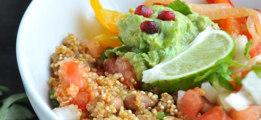 Fajita Bowl with Citrus Marinated Vegetables