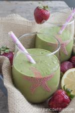 Strawberry Lemonade Green Smoothie 4