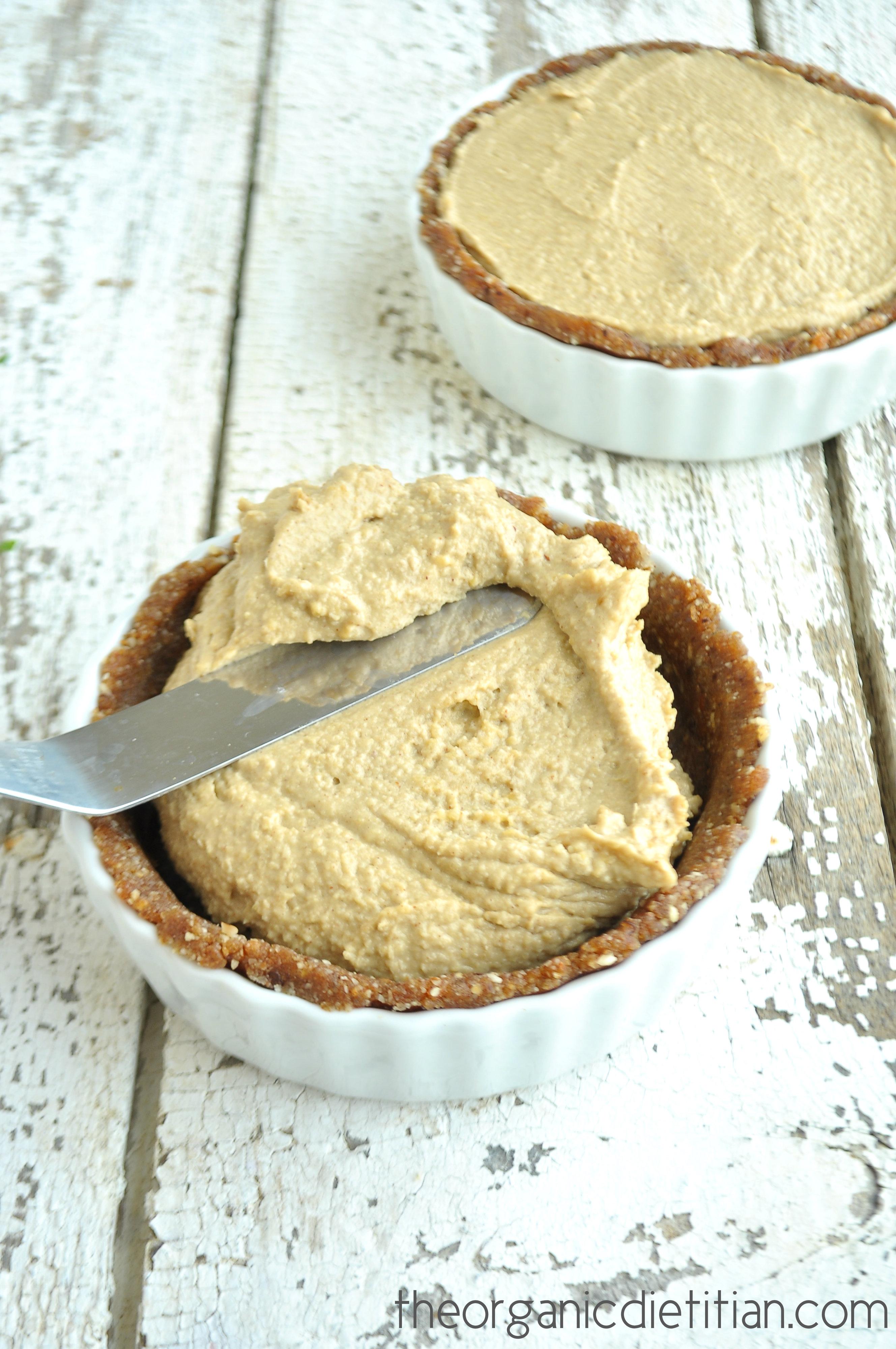 Secretly Healthy Peanut Butter Cup Pie - The Organic Dietitian