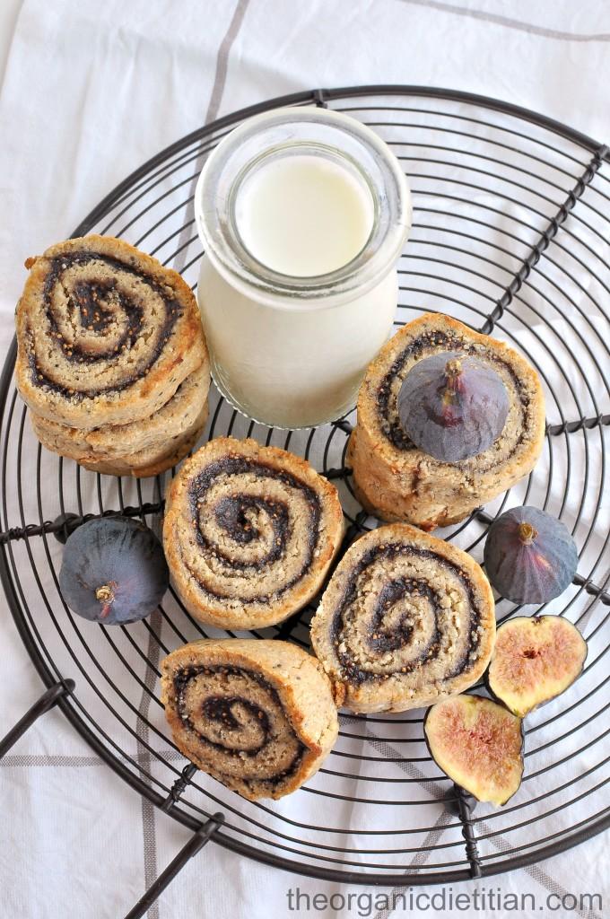 Cashew Flour Fig Pinwheel cookies 5