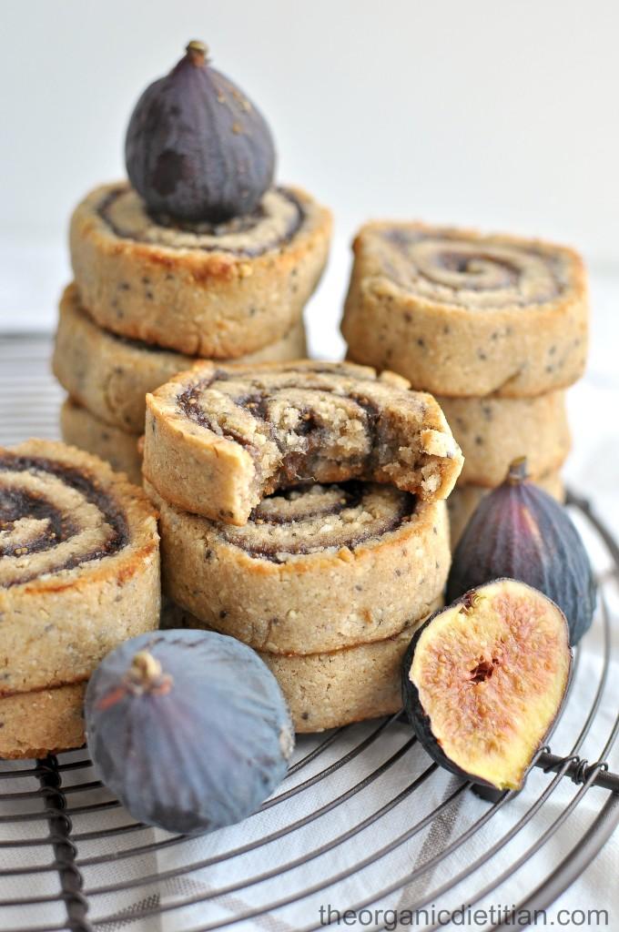 Cashew Flour Fig Pinwheel cookies 7