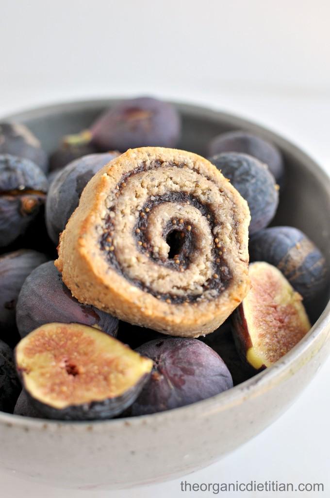 Cashew Flour Fig Pinwheel cookies 8