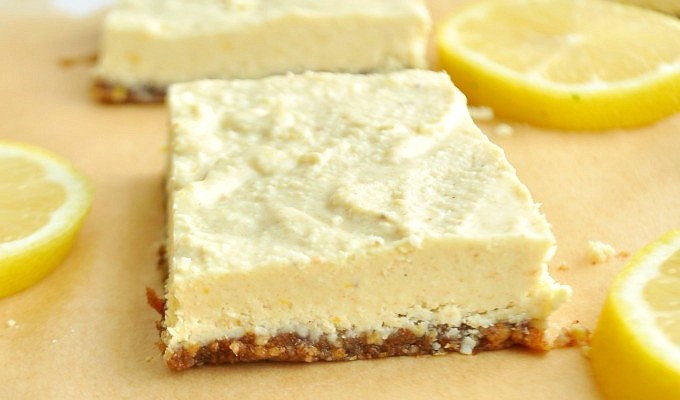 Lemon Bars (Raw, Vegan, Paleo)