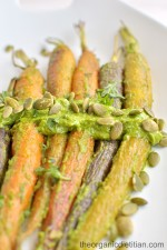 Roasted Carrots with Green Goddess