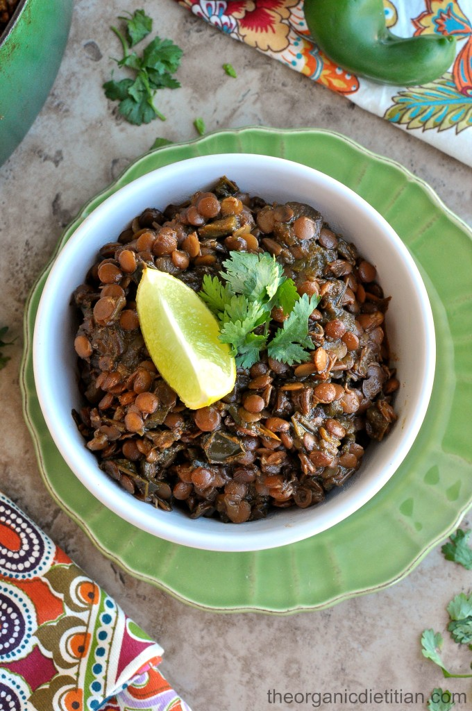 Healthy Freezer Meals + Green Lentil Chili