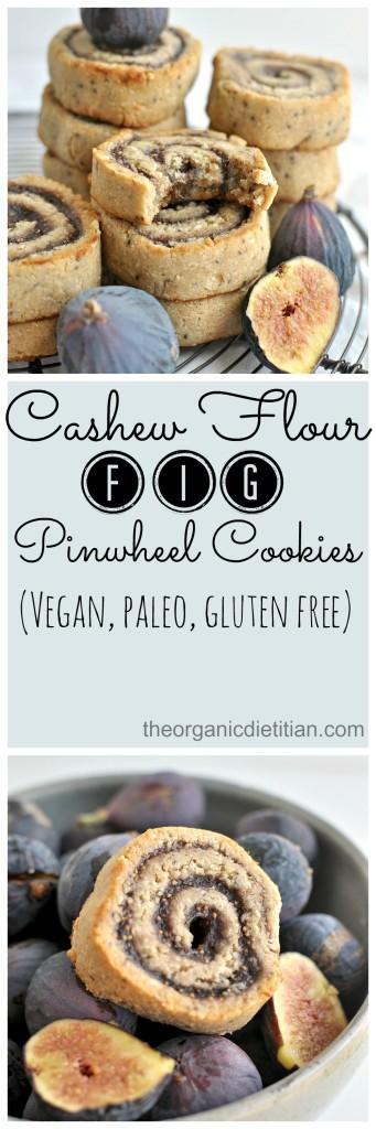 Cashew Flour Fig Pinwheel cookies #vegan #paleo #glutenfree