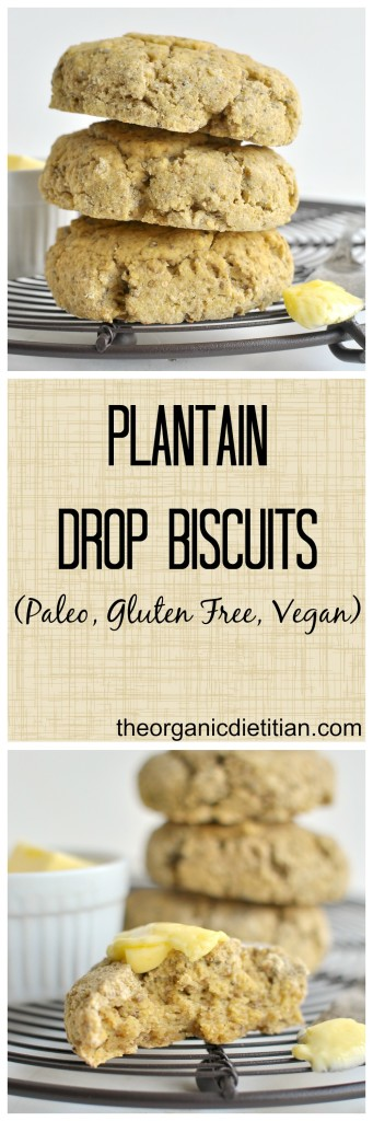 Easy Plantain Drop Biscuits, #vegan #paleo #glutenfree, make in minutes in a food processer