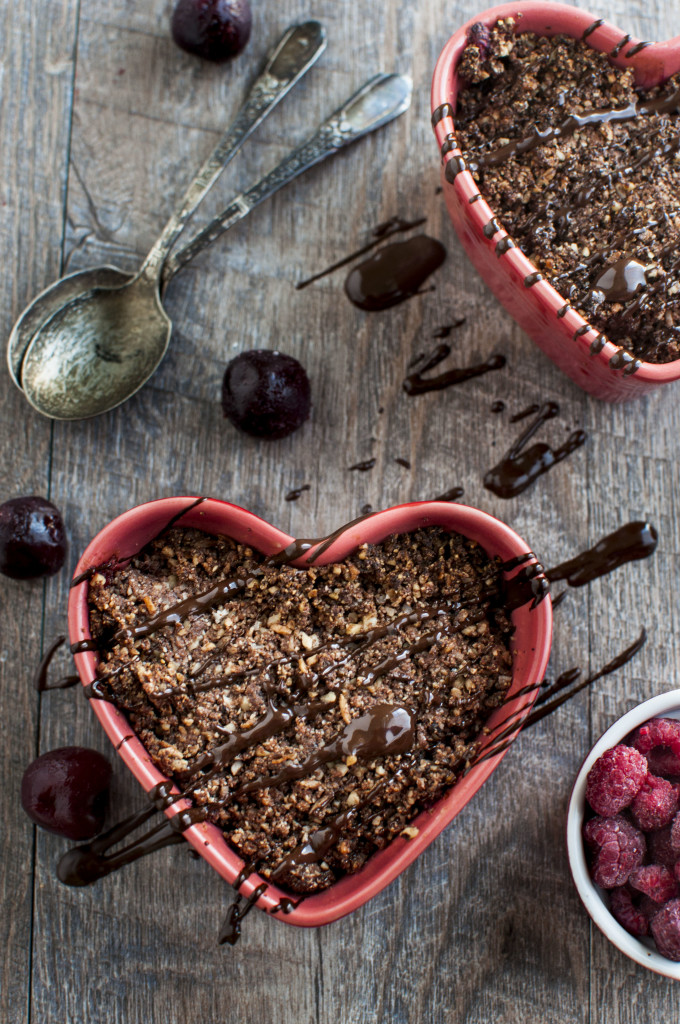 Chocolate Fruit Crumble for 2 b