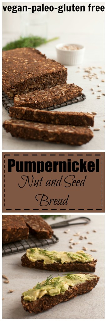 Pumpernickle Nut and Seed Bread #vegan #paleo #glutenfree