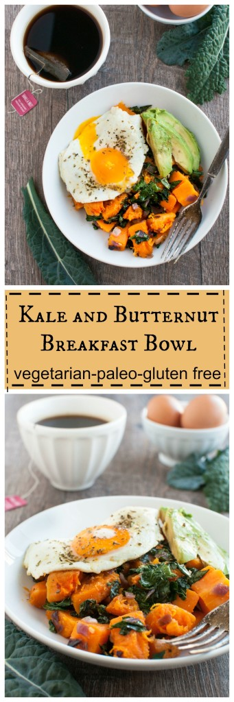 Kale and Butternut Breakfast Bowl #vegetarian #paleo #glutenfree #whole30 #realfood