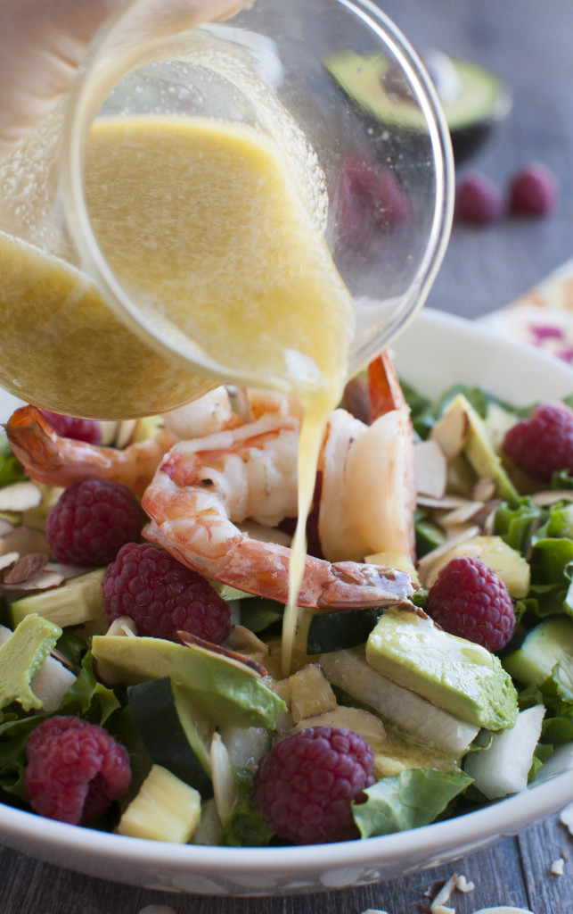 Summer Salad with Ginger Dressing