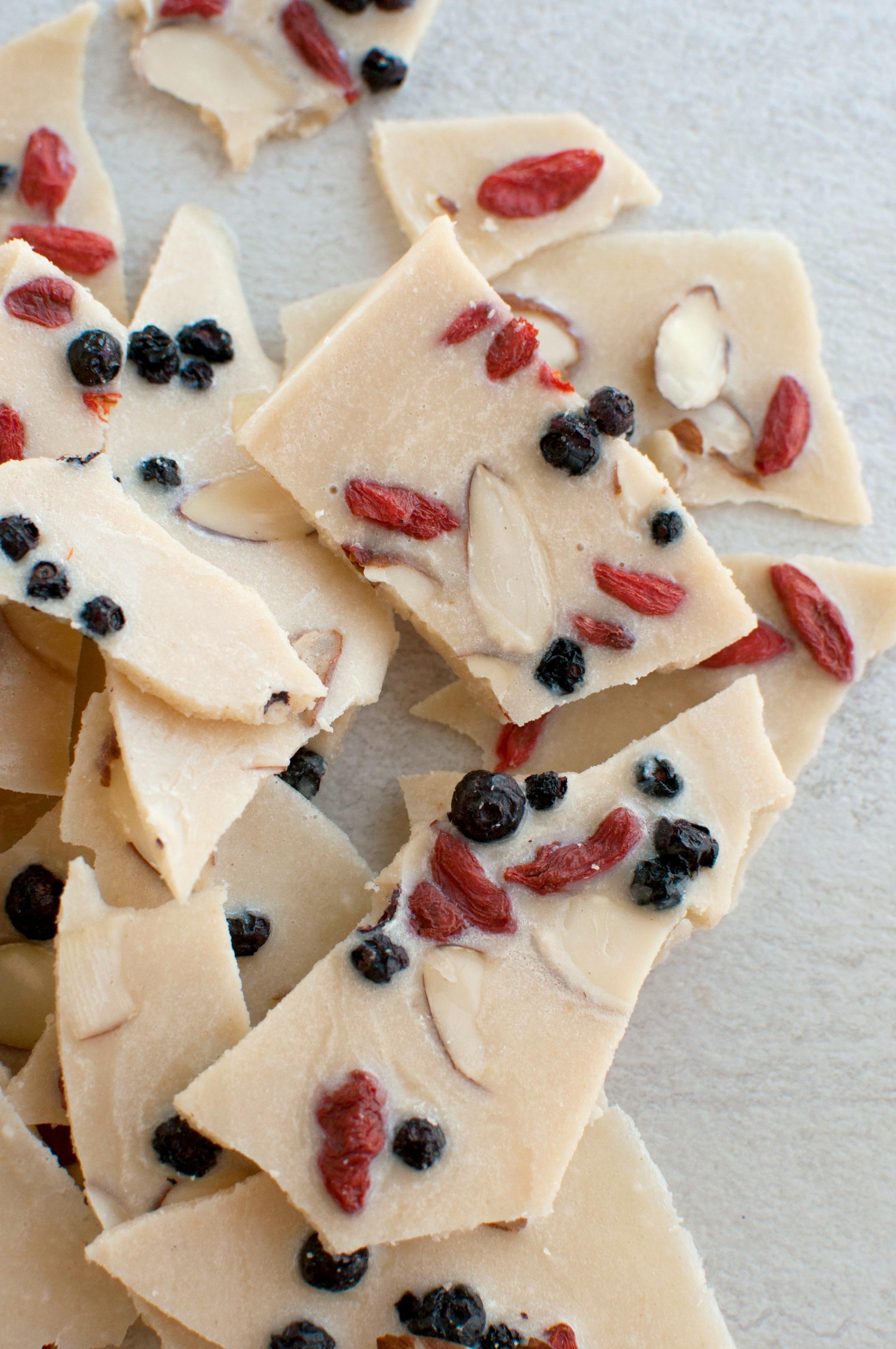White Chocolate Bark (Dairy Free) - The Organic Dietitian