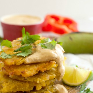 Tostones with Red Pepper Sauce
