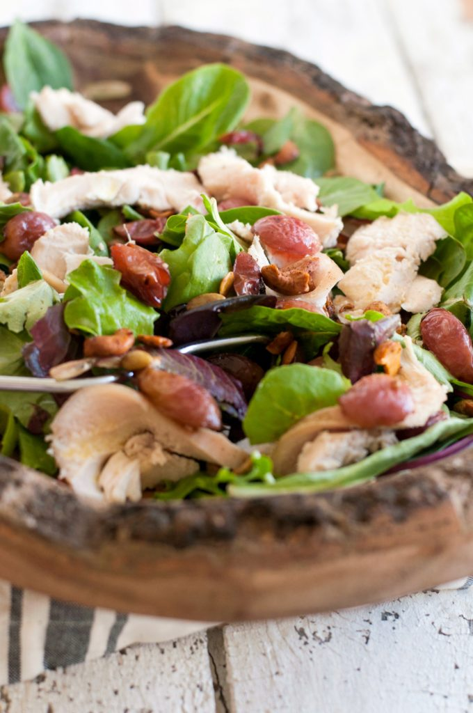 Roasted Grape Salad with Citrus Vinaigrette