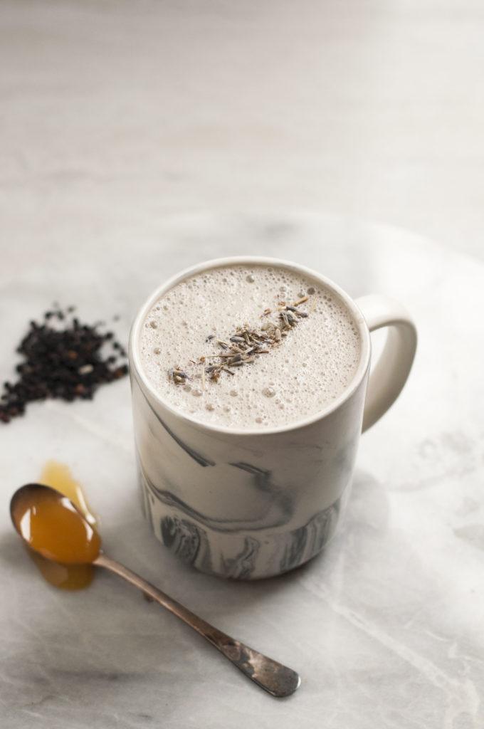 Immune Boosting Elderberry Lavender Latte